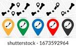 bone break icon in location set.... | Shutterstock .eps vector #1673592964