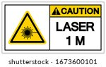 laser 1 m. symbol sign  vector... | Shutterstock .eps vector #1673600101