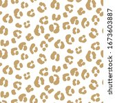 seamless leopard pattern vector ... | Shutterstock .eps vector #1673603887