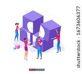 trendy flat illustration.... | Shutterstock .eps vector #1673606377
