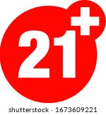 a twenty one years over icon  | Shutterstock .eps vector #1673609221