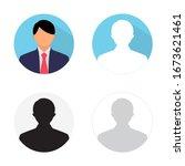 businessman profile avatar set  ... | Shutterstock .eps vector #1673621461