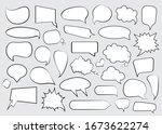 set of comic speech bubbles in... | Shutterstock .eps vector #1673622274