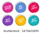 set of grunge circles with... | Shutterstock .eps vector #1673622694