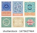 mega set of 6 vintage labels.... | Shutterstock .eps vector #1673627464