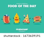 vintage food poster design with ... | Shutterstock .eps vector #1673639191