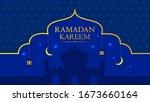 ramadan kareem eastern pattern... | Shutterstock .eps vector #1673660164