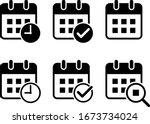 Flat Design Calendar Icon Set ...