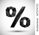 black percent geometric icon... | Shutterstock .eps vector #167374751
