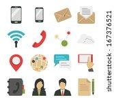 social network and internet... | Shutterstock .eps vector #167376521