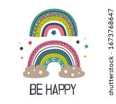 poster with two colorful... | Shutterstock .eps vector #1673768647
