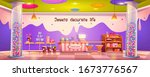 candy shop empty interior with... | Shutterstock .eps vector #1673776567