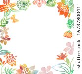 background of variable plants...   Shutterstock .eps vector #1673780041