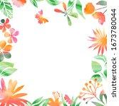 background of variable plants...   Shutterstock .eps vector #1673780044