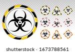 biohazard or biological hazard... | Shutterstock .eps vector #1673788561