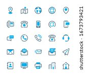 contact us vector icons.... | Shutterstock .eps vector #1673793421