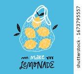 reusable shopping mesh bag with ...   Shutterstock .eps vector #1673795557