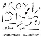 hand drawn arrows icons set....   Shutterstock .eps vector #1673804224