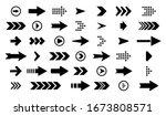 arrows best set of icons.arrow... | Shutterstock . vector #1673808571