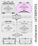 set of ornate vector frames and ... | Shutterstock .eps vector #1673809201