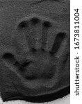 Handprint In The Black Volcanic ...