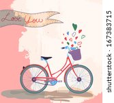 bicycle loves you concept... | Shutterstock .eps vector #167383715