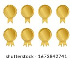golden ribbons collection and...   Shutterstock .eps vector #1673842741