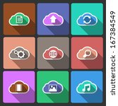 cloud ui layout icons for web...