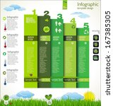 modern ecology design layout | Shutterstock .eps vector #167385305