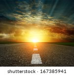 along the road  | Shutterstock . vector #167385941