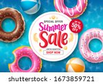 summer sale vector banner... | Shutterstock .eps vector #1673859721