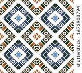 geometric watercolor african... | Shutterstock . vector #1673903794