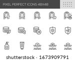 skin  are vector line icons.... | Shutterstock .eps vector #1673909791