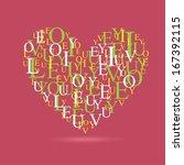 love design over pink ... | Shutterstock .eps vector #167392115