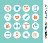 fitness   health icons | Shutterstock .eps vector #167392979