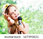 pretty little girl with the... | Shutterstock . vector #167393621