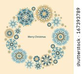 christmas and new year retro... | Shutterstock .eps vector #167393789