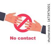 do not contact. no handshake... | Shutterstock .eps vector #1673976001