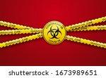 danger vector tape quarantine... | Shutterstock .eps vector #1673989651