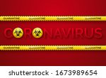 danger vector tape quarantine... | Shutterstock .eps vector #1673989654