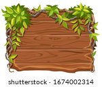 game wooden board and branches...   Shutterstock .eps vector #1674002314