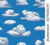 seamless vector texture of blue ... | Shutterstock .eps vector #1674020197