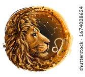 Leo. Zodiac Sign. Artistic ...