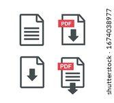file download icon. pdf upload... | Shutterstock .eps vector #1674038977