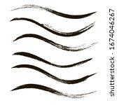 makeup strokes  set of mascara...   Shutterstock .eps vector #1674046267