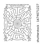 Maze Game And Coloring Page Fo...