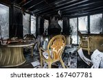 fire damaged interior details...