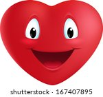 illustration with a red heart | Shutterstock .eps vector #167407895