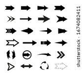 arrows big black set icons.... | Shutterstock .eps vector #1674082411