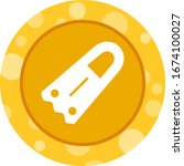 unique fins vector glyph icon | Shutterstock .eps vector #1674100027